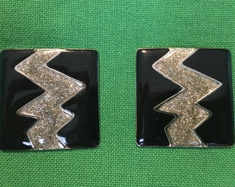 Funky lighting bolt earrings