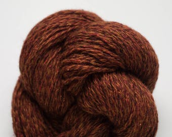 Rust Tweed Recycled Merino DK Weight Yarn,