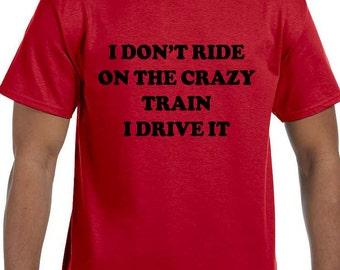 Crazy Train Humor Funny T-Shirt model xx10036