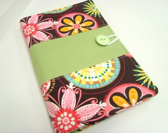 Large Honey Do List Taker/ Planner/ Comes with Pen and Pad of Paper/ Michael Miller Carnival Bloom / Lime Linng