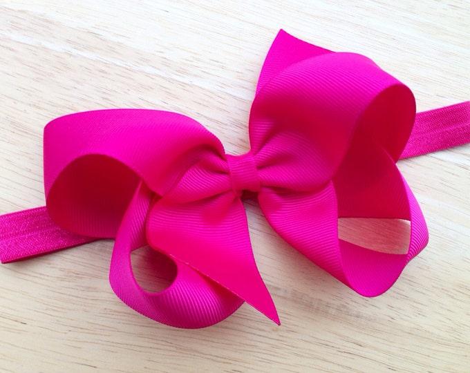 Baby headbands - PICK 6 - baby girl headband, newborn headband, baby headband bows, baby bows, baby bow headband, big baby bows, hair bows