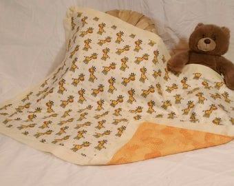 Happy Giraffe Baby Blanket