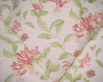 2-7/8 yards Osborne & Little / Nina Campbell NCF3430 Lonicera - English Floral Printed Linen Drapery Upholstery Fabric - Free Shipping