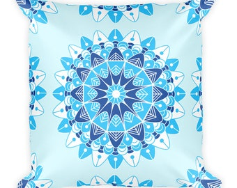 Mandala V Pattern Print Throw Pillow