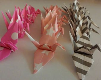 Set of origami cranes: Collection porcelain