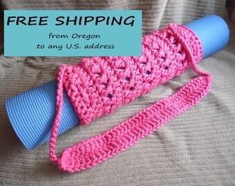 Yoga Mat Tube Bag, Honolulu Pink, Hometown Soft Acrylic, Original HH Design
