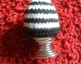Stripey Egg Cosy, knitted cosy, knitted egg cozy, handmade egg cover, easter gift
