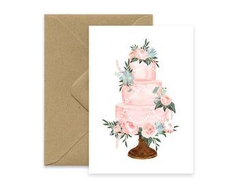 Congrats - Wedding Cake card