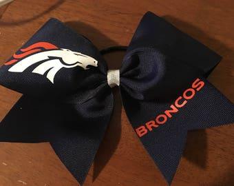 Denver Broncos Bow - Broncos Cheer Bow - Broncos Gift