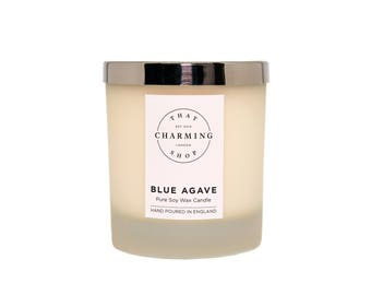 Blue Agave Candle - That Charming Shop - Soy Candle - Gift Wrapped Candle - Minimal Home Decor - Clean Scent Candle - Wholesale Candles