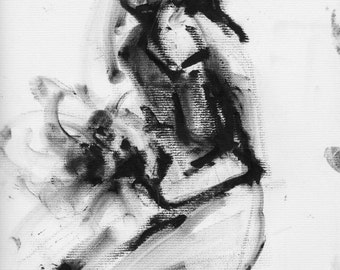 Haunting Fine Art Figure Drawing, No. 79