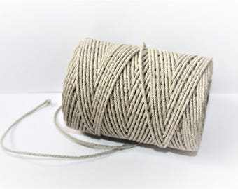 2.2 mm of Elegant Linen Rope - Natural Color = 1 Spool = 110 Yards = 100 Meters