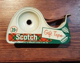 Antique Holiday Scotch Tape Dispenser