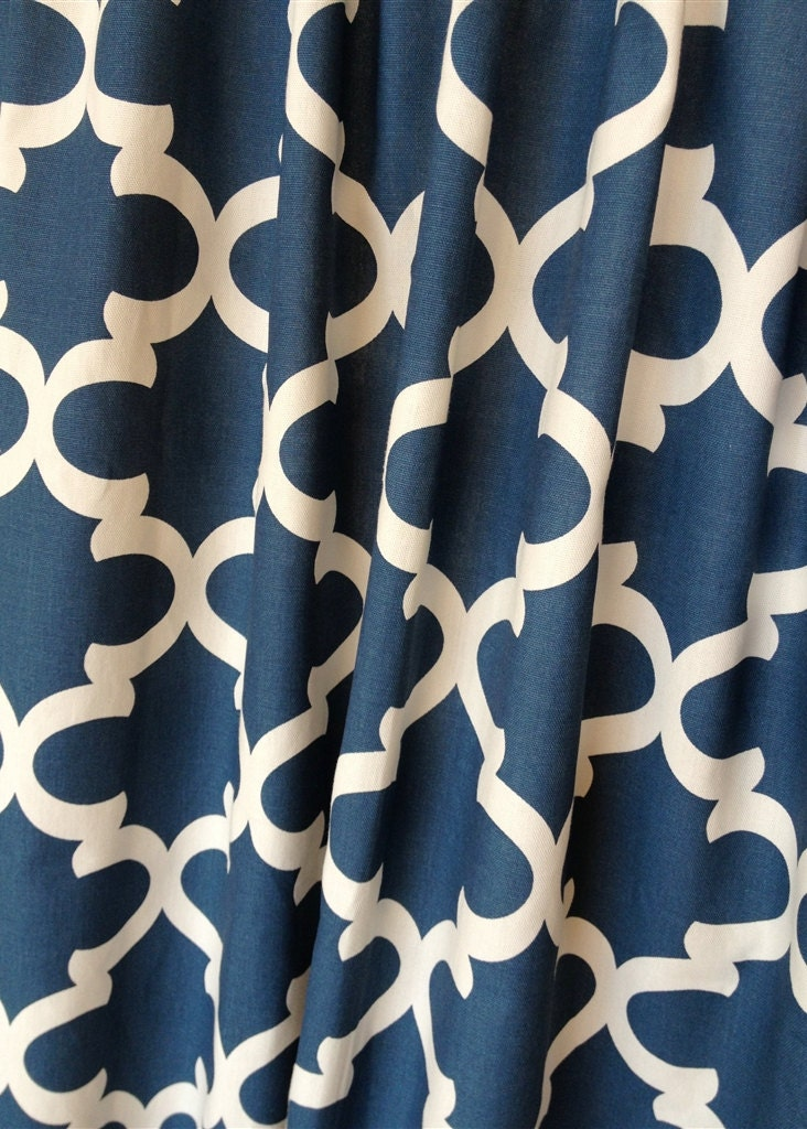 zoom Blue Moroccan Tiles Valance Curtains 50x16