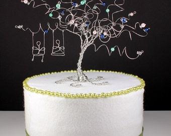 Swing Set Wedding Cake Topper Custom Tree Sculpture