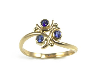 Zora Sapphire Ring in Sterling Silver Geeky Ring Legend of