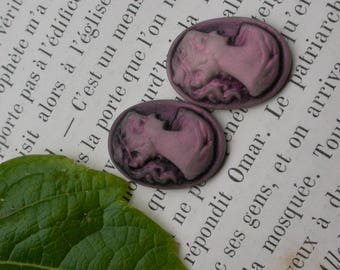 set of 5 cams old style resin cabochon