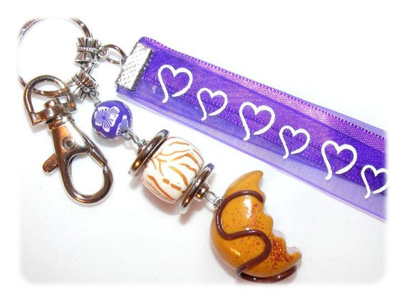 Bag charm fimo candy Keychain candy, uniquely DollyDoo, accessory bag, handmade, gift MOM