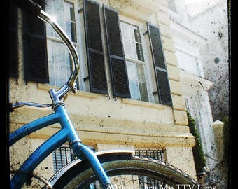 INSTANT DOWNLOAD , ttv Photography, Blue bike, Charleston SC