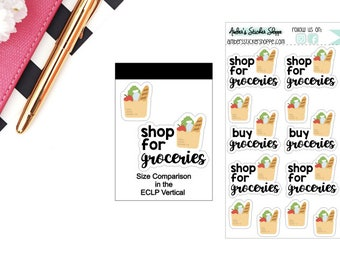 Groceries Grocery Shopping Stickers for any Planner