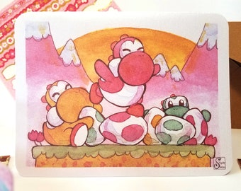 Yoshi Eggs, Mario Easter/Spring - Cards for Nerds