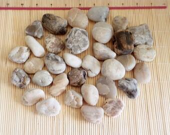 Black Sea Stones, Beach Stones, Sea Smooth Pebbles, Beach Decor, 33 Natural Sea Stones, Crafting Stones, Craft Pebbles