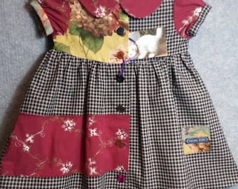 Little girls old-fashioned cotton dress