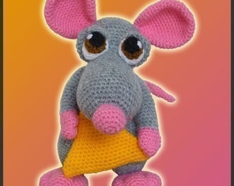 Amigurumi Pattern Crochet Donnie Mouse Doll DIY Instant Digital Download PDF