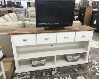 4 Drawer console