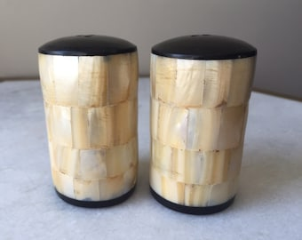 Beautiful Mother Of Pearl Salt & Pepper Shaker Set
