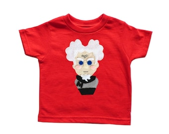 I am The Supermodel! - Mugatu Inspired Kids Red Tee - Birthday Gift