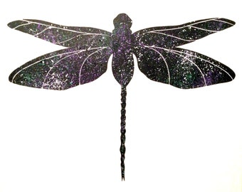 Dragonfly Silhouette Painting