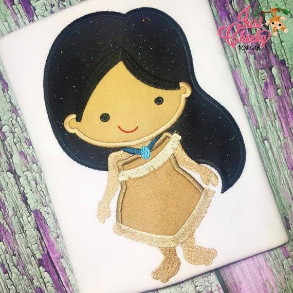 Pocahontas - Pocahontas Inspired Embroidered Shirt - Disney Girls Shirt - Disney Princess Birthday Shirt