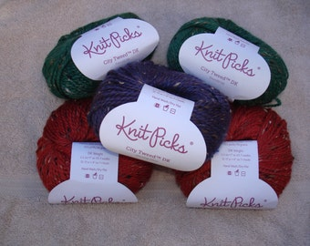 Knit Picks City Tweed DK Yarn, Pt 2, PLEASE read the description to see color quantities available
