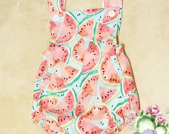 Summer Romper, Summer outfit, watermelon romper, Fashionable Baby, Beach baby