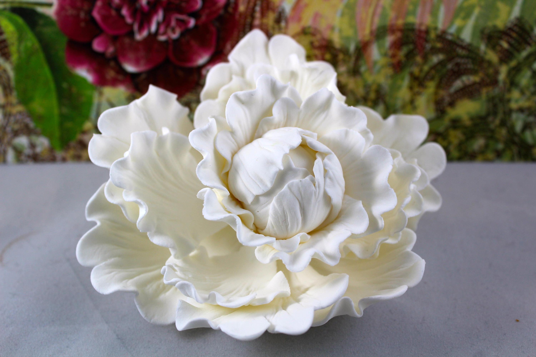 Peony Sugar Flower Cake Topper Gumpaste Flower Cake Topper