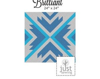 Brilliant mini quilt pattern - downloadable pdf