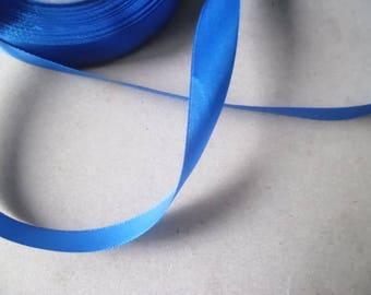 x 1 meter of Ribbon satin and satin royal blue 15 mm