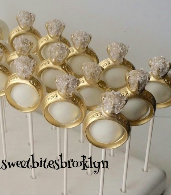 Diamond Ring Cake Pops Engagement Bridal Shower Wedding Favors Party Desserts