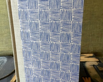 Journal - Small Unlined Blue Basket Weave