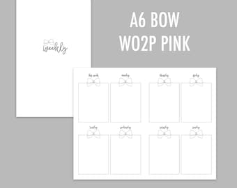 A6 TN Bow Week on 2 PGES Pink (Undated)