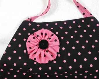 Polka Dot Adjustable One Size Full Coverage Apron