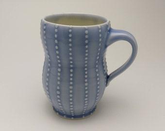 Striped Dot Mug- Coffee Mug- Tea Mug- Hot Chocolate Mug- Housewarming Gift