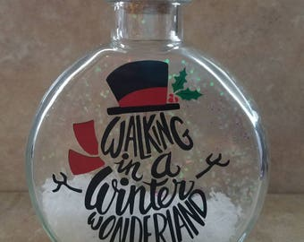 Christmas in a bottle - waking in a winter wonderland, Christmas Decor, Rustic Christmas Decor, Primitive Christmas, Farmhouse Decor
