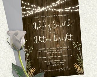 Rustic Wedding Invitation - Wedding Invitations - Wedding Package - Wedding Invites