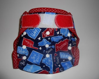 One Size United States Diaper Cover