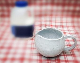 Ceramic Milk jug, Handmade Milk jug, Teaware Coffeeware,creamer, Pottery milk jug.
