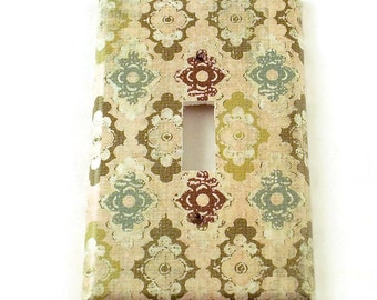 Light Switch Cover Wall Decor Switchplate Switch Plate in Justine   (111S)