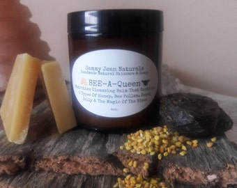 Cleansing Balm/Bee Power/Royal Jelly/Bee Pollen/Propolis/Organic Ingredients/Jasmine/Neroli/Cardamom/Raw Honey/Manuka Honey/Anti Aging