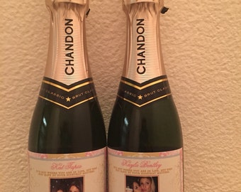Will You Be My Bridesmaid Champagne Label - Wedding Champagne Label - Custom Champagne Label - Chapmagne Labels for Bridesmaids - 1